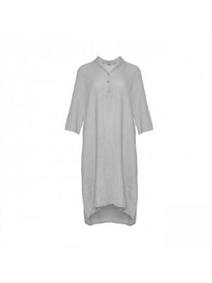 Tiffany Hør Skjortekjole 18970 X Pearl Grey