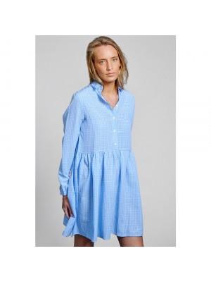 Noella Vora Dress Cotton Blue/white Checks