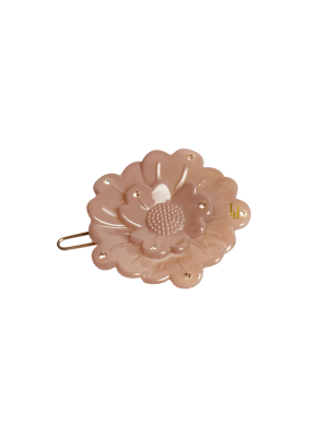 Flower clip Swarovski Nude