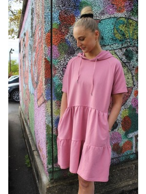 LIBERTÈ - Melissa SS Dress - Dark Rose - blå