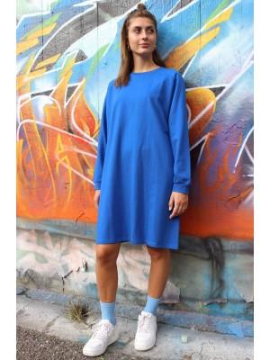 Penny LS Crewneck Dress - Classic Blue