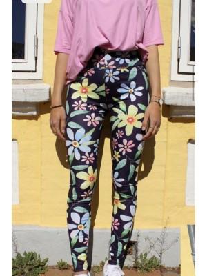 Forudbestilling - Liberté - Nicole Leggings - Navy Flower - PREORDER (Medio Juni)