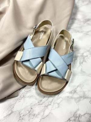 Noelle baby blå-beige
