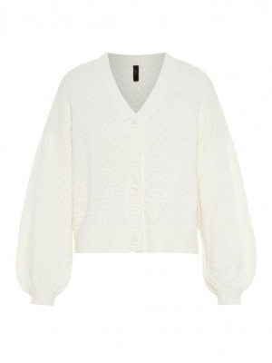 YASDOT strik cardigan  - Star white