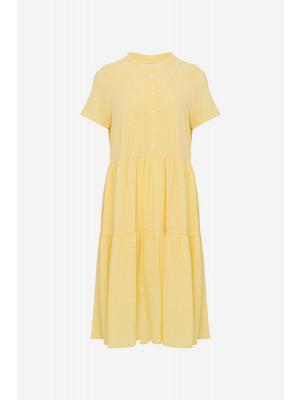 Lipe SS Dress - Yellow Check