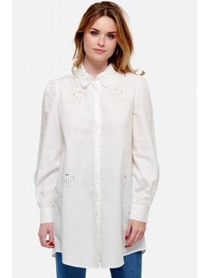 Lucille Long Shirt cotton-lace