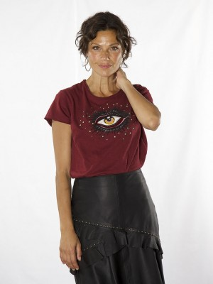 Lyon Eye T-shirt - Hvid - Tawny Port.