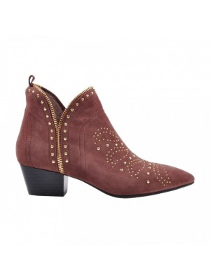 Sofie Schnoor - Mathilde Suede Boot Earth red