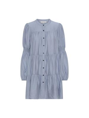 Continue Kjole - Sanna Dress Solid lyseblå