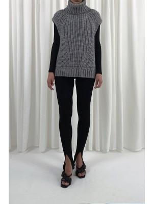 Vanya Knit Vest - Light Grey