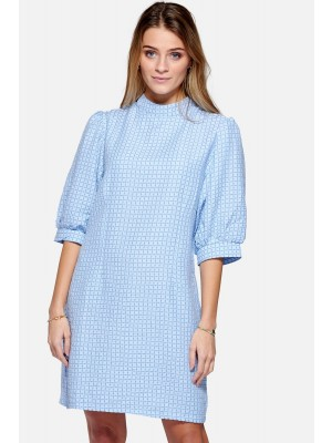 Noella Vix Dress Cotton Sky blue check