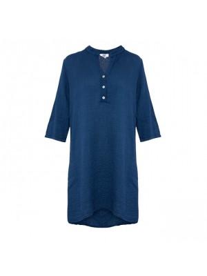 Tiffany Double Cotton Skjortekjole 17690, Navy