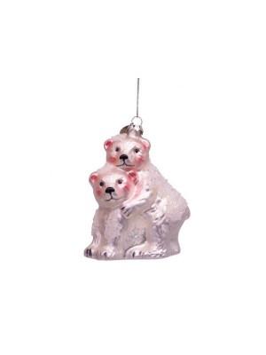Ornament glass Ice Bear