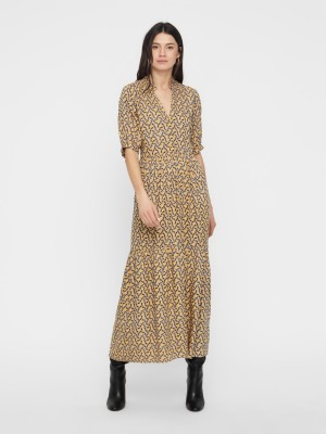 YAS Kjole - Sylvia SS ankle Dress, Anise Flower