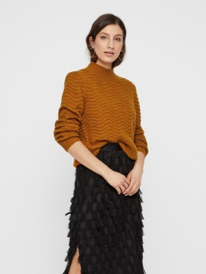 Y.A.S - Brentrice Knit Pullover - Buckthorn Brown