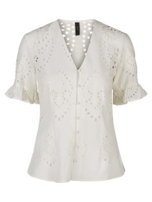 YAS T-shirt - Yasanglaise SS Top, Star White
