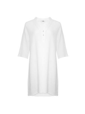 Tiffany Skjortekjole 17690 Double Cotton Hvid