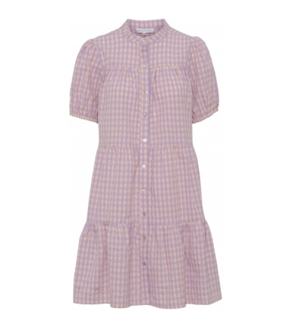 Sanna check dress - Purple