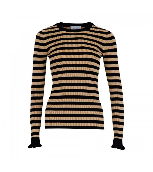 Nelle stripe bluse - sort
