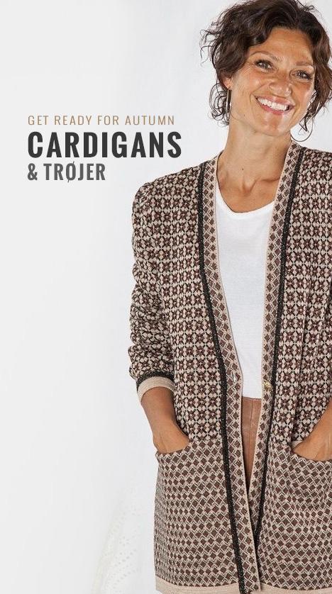 Se vores udvalg af cardigans og trøjer
